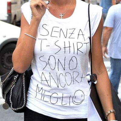 La maglietta della Minetti