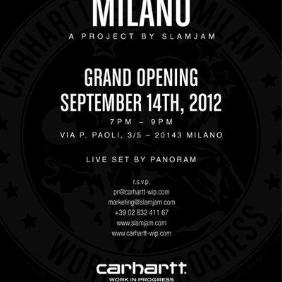 Carhartt Work In Progress Store Milano Opening