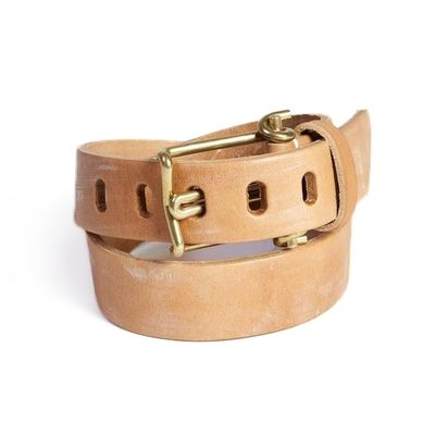 Tender Brass Wire Buckle Tan Belt