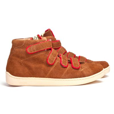 Visvim Foley Hi-Folk Brown con lo strappo