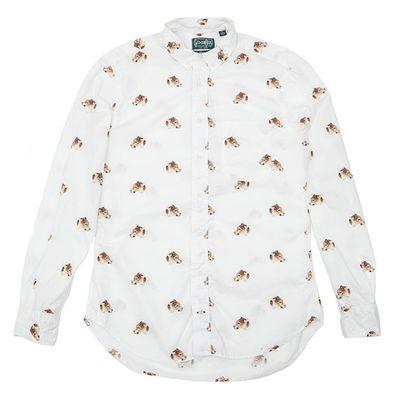 Camicia con le testine di leopardo