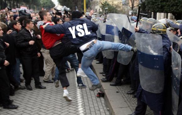 Violent riot for YSL