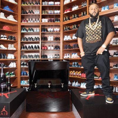 L'armadio delle sneaker di Dj Khaled