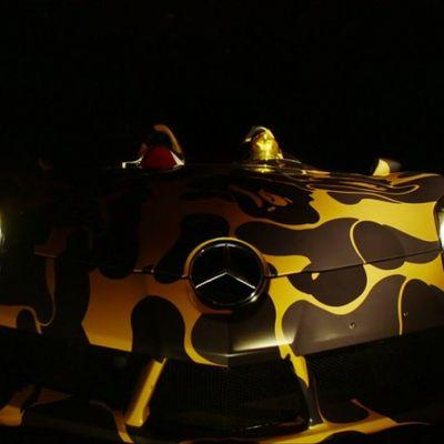 BAPE ha pittato camo una Mercedes-Benz SLR McLaren