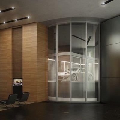 La nuova torre Porsche Design c'ha l'ascensore per portarti l'auto in salotto