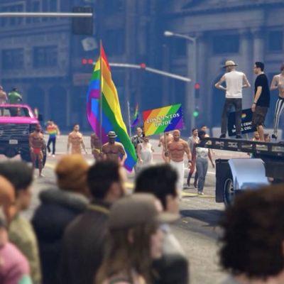 Nuova mod di GTA V con il Gay Pride (indistruttibile)