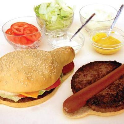 Hamdog: hamburger + hot dog