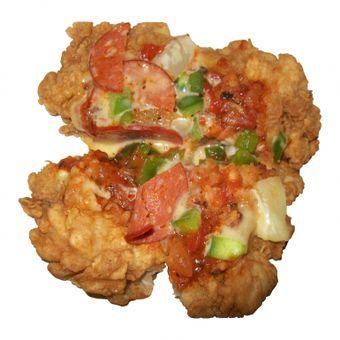 KFC Chizza: pollo tofri + pizza