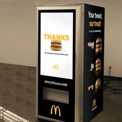 McDonald's ha fatto un distributore automatico di Big Mac a sgunfio