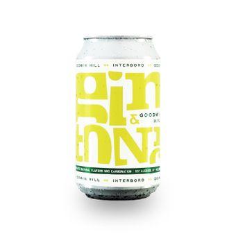 Gin tonic in lattina