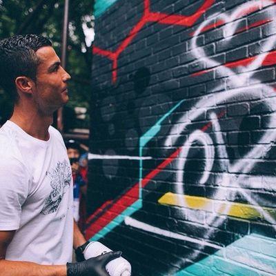 Cristiano Ronaldo e i graffiti