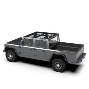 Pickup elettrico fatto completamente di alluminio